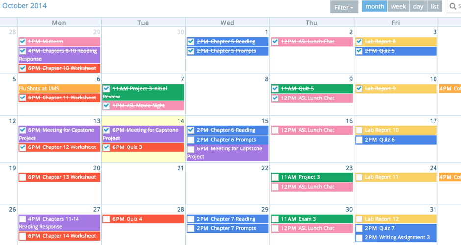 Student Calendar Planner : Helium student planner lightening your course load